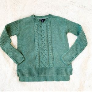 Gap girl cable knit crew neck sweater